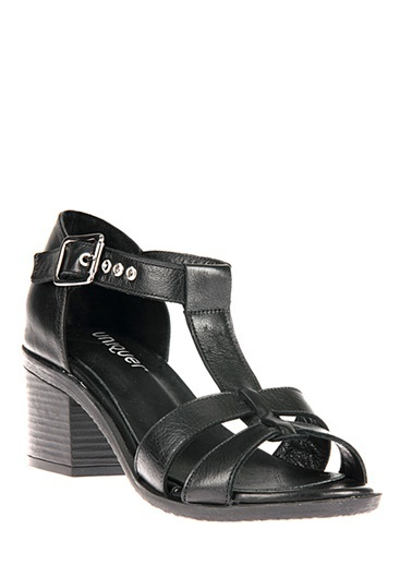 Uniquer Hakiki Deri Sandalet Siyah